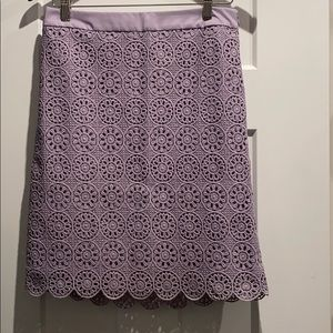 Purple lace pencil skirt size 4